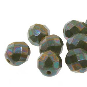 38 FirePolish 4mm Nebula Lemon Czech Glass Beads Fire Polished