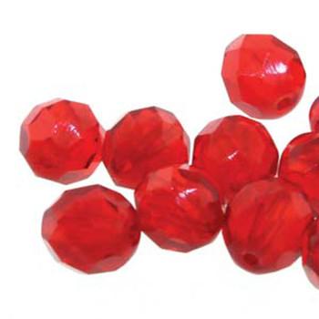 38 FirePolish 4mm Round Siam Czech Glass Beads Fire Polished