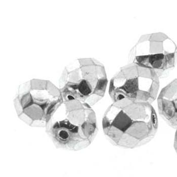 38 FirePolish 4mm Round Full Labrador Czech Glass Beads Fire Polished