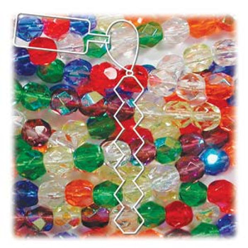 Rainbow Mix Czech 4mm Faceted Round FirePolished Glass 38 Beads