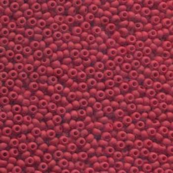 22 Grams Czech 8/0 Glass Seed Beads Red Matt Approx 22 Grams