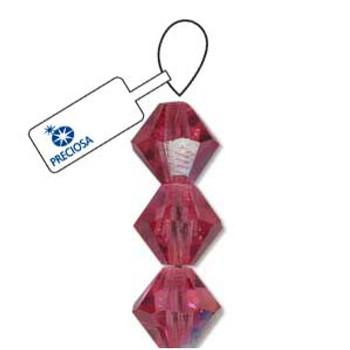 Crystal Bicone 4mm Rose Ab 30 Beads Preciosa Czech Crystal