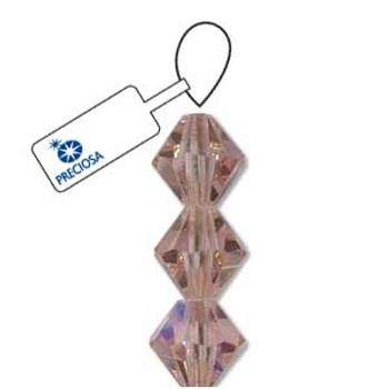 Crystal Bicone 4mm Lt Rose Ab 30 Beads Preciosa Czech Crystal