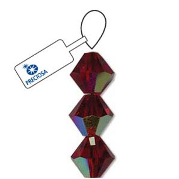 Crystal Bicone 4mm Siam Ab 30 Beads Preciosa Czech Crystal