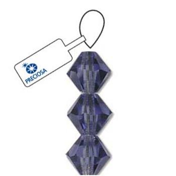 Crystal Bicone 4mm Tanzanite 30 Beads Preciosa Czech Crystal