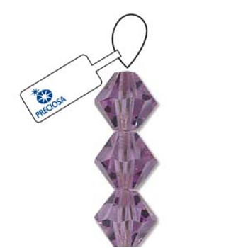 Crystal Bicone 4mm Violet 30 Beads Preciosa Czech Crystal
