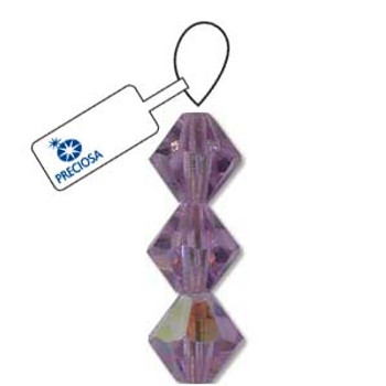Crystal Bicone 4mm Violet Ab 30 Beads Preciosa Czech Crystal