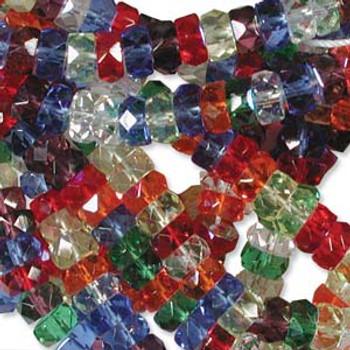 LIMITED Firepolish Rondelles 3x6mm MIX RAINBOW AB  50 beads
