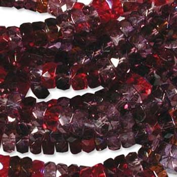 LIMITED Firepolish Rondelles 3x6mm MIX VINEYARD  50 beads