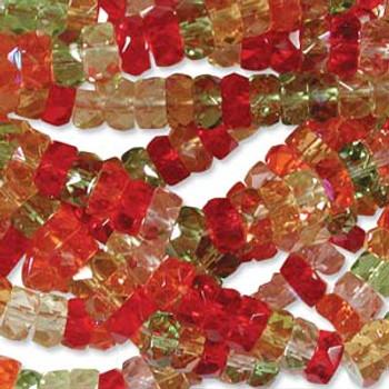 LIMITED Firepolish Rondelles 3x6mm MIX TANGO - 50 beads
