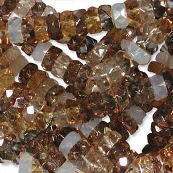 LIMITED Firepolish Rondelles 3x6mm mix22 -  50 beads