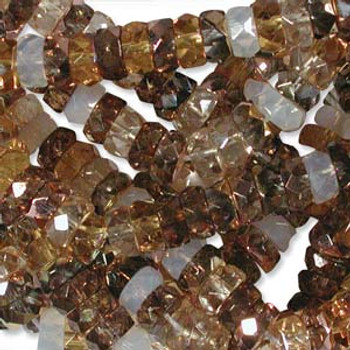 LIMITED Firepolish Rondelles 3x6mm mix22 -  50 beads