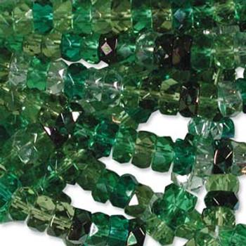 LIMITED Firepolish Rondelles 3x6mm mix03 -  50 beads
