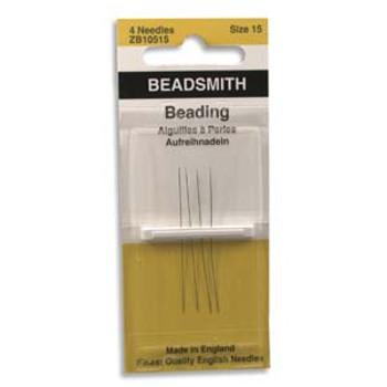 4 pack John James English Beading Needles Size 15