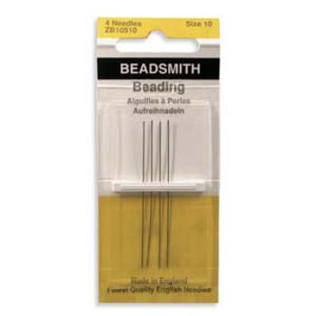 4 pack John James English Beading Needles size 10