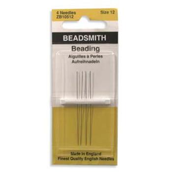 4 pack John James English Beading Needles size 12