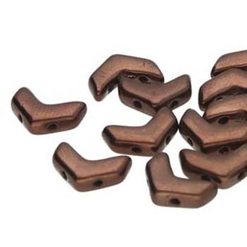 29 Cheveron Duo 10X4mm Jet Bronze 29 2 Hole Czech Glass Beads