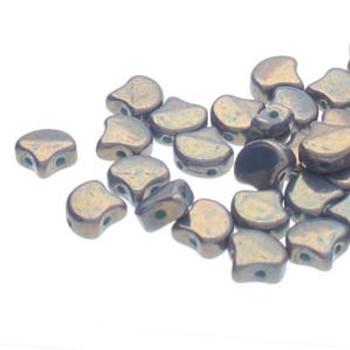 Ginko 2 Hole 7.5mm Lumi Turquoise Green 20 Grams Czech Glass Beads