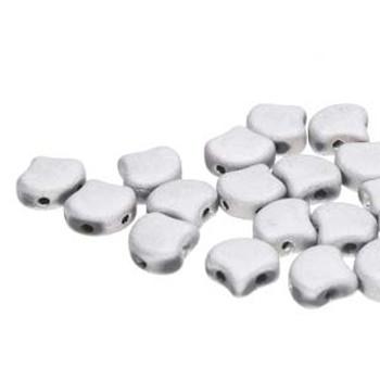 Ginko 2 Hole 7.5mm Jet Matte Labrador 20 Grams Czech Glass Beads