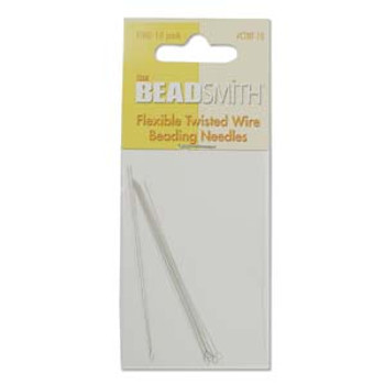 10 twisted Fine wire beading needles