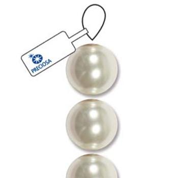 4mm Preciosa Maxima Pearl Round White 30 Crystal Pearl Beads Limited