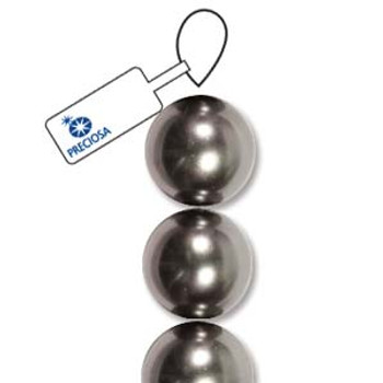 4mm Preciosa Maxima Pearl Round Dk Grey 30 Crystal Pearl Beads Limited