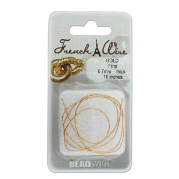 French Wire New Gold Clr Fine (.7mm)  16In
