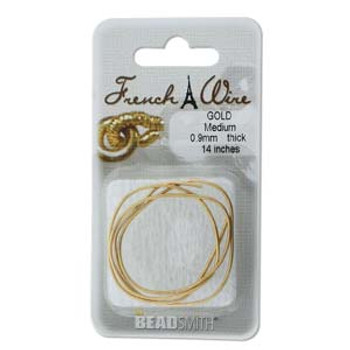 French Wire New Gold Clr Medium (.9mm)  14In