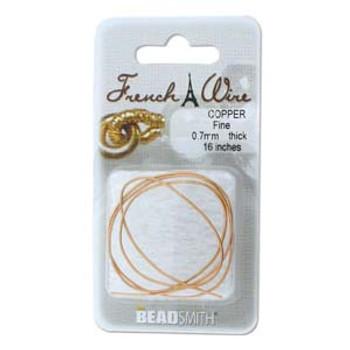 French Wire Copper Color Fine (.7mm)  16In