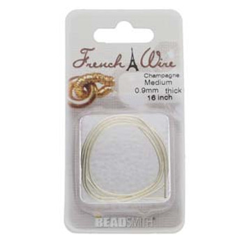 French Wire Champagne Medium (.9mm)  16In