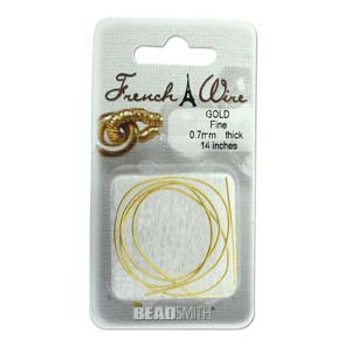 French Wire Gold Color Fine (.7mm)  14In