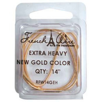 French Wire New Gold Clr Extra Heavy (1.8mm)  14In