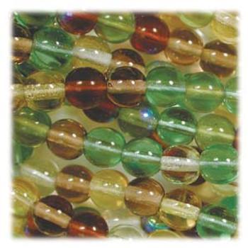Earth Tones Mix Czech 4mm Druk Round Glass Beads approx 100 beads