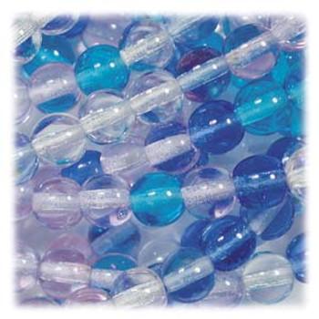 Blue Mix Czech 4mm Druk Round Glass Beads approx 100 beads