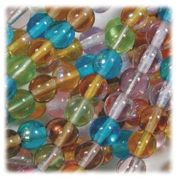 Prairie Mix Czech 4mm Druk Round Glass Beads approx 100 beads