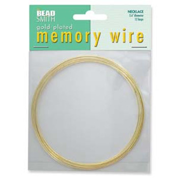 Memory Wire Necklace Gold Plate 3.6 12  Loops S