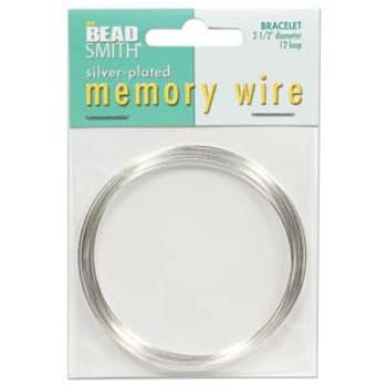 Memory Wire 2 1/2 12 Loops  Silver Plate -Bracelet