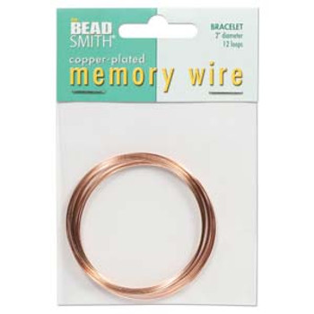 Memory Wire 2  Inch Copper Plate -12 Loops
