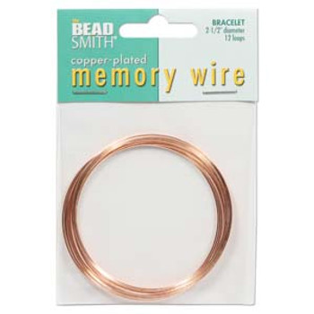 Memory Wire 2 1/2  Inch Copper Plate -12 Loops
