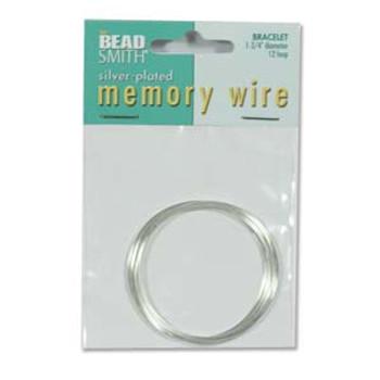 Memory Wire 1 3/4 12Trn Silver Plate -Rnd Bracele