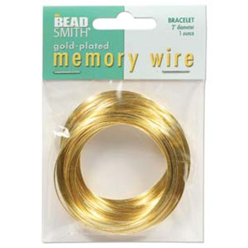Memory Wire 2 1 Ounce Gold Plate -Bracelet