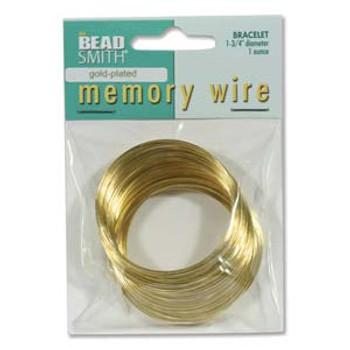 Memory Wire 1 3/4 (1 Oz) Gold Plate -Bracelet