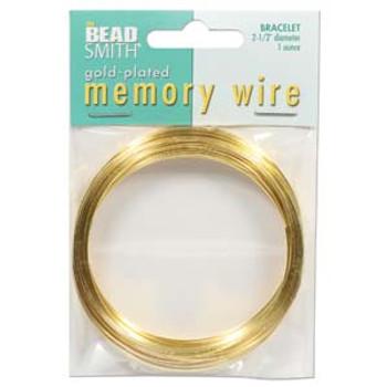 Memory Wire 2 1/2 (1 Oz) Gold Plate -Bracelet