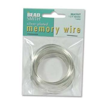 Memory Wire 1 3/4 (1 Oz) Silver Plate -Bracelet