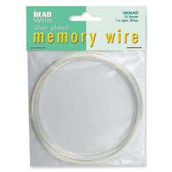 Memory Wire Necklace Silver Plate 3.6 38  Loops S (1 Oz)