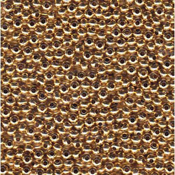 Genuine Metal Seed Beads 6/0 24Kt Gold Plated 30 Grams Mt6-Gld-Tb