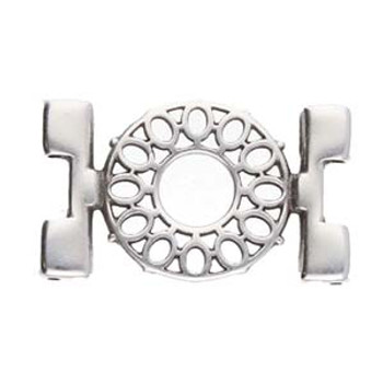 Detis-Tila Bead Connector Antique Silver Plate Pack of 4