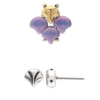 LIMANI-GINKO EARRING ANT. SILVER PLATE BAG/10