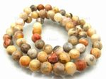 "8mm Crazy Lace Agate Round Beads 15.5"" 8r28"