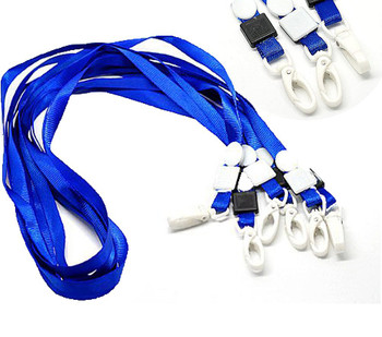 20 Economy Blue Neck Strap Lanyard For Id Card 16 Inch Long Rb17470